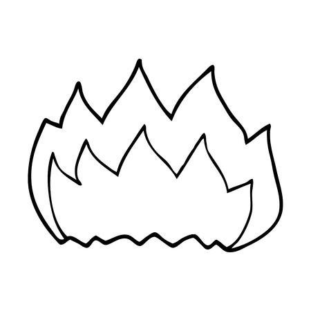 line drawing cartoon gas flame