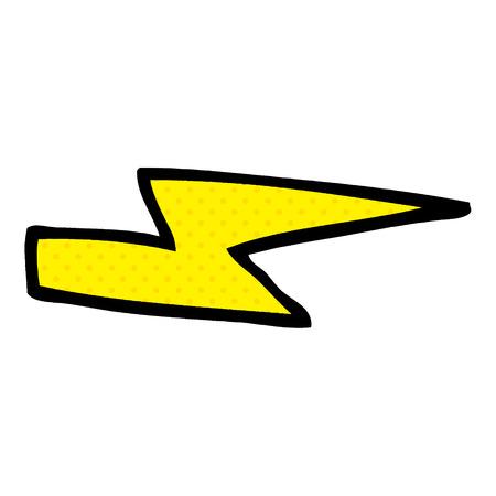 cartoon doodle lightening bolt