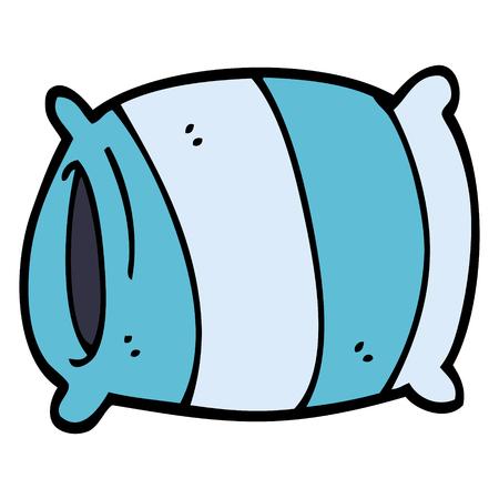 almohada de dibujos animados doodle