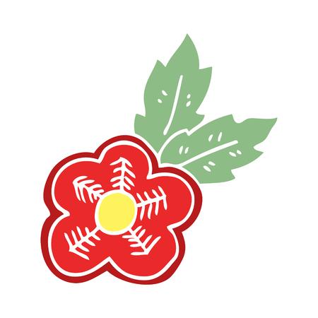 cartoon doodle rose tattoo symbol Stock Vector - 110589802