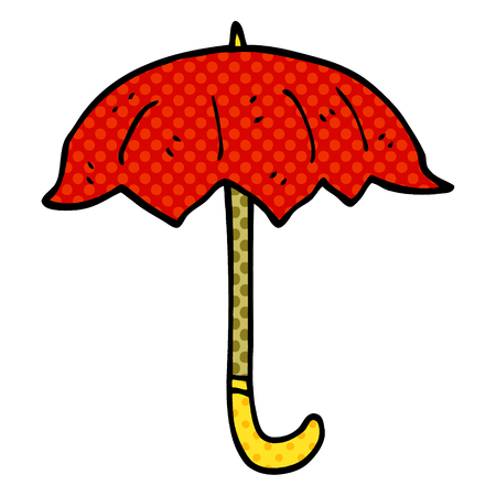 cartoon doodle open umbrella