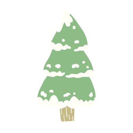 cartoon doodle pine trees