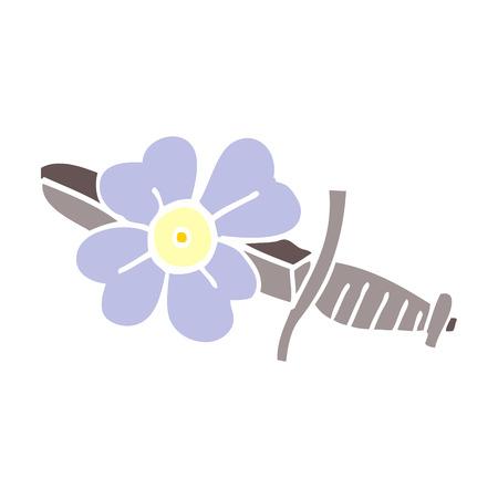 cartoon doodle tattoo dagger symbol