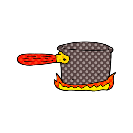cartoon doodle cooking pan