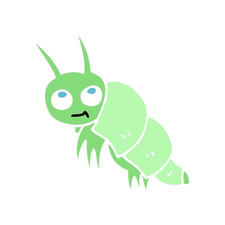 flat color illustration of little bug Foto de archivo - 110589967