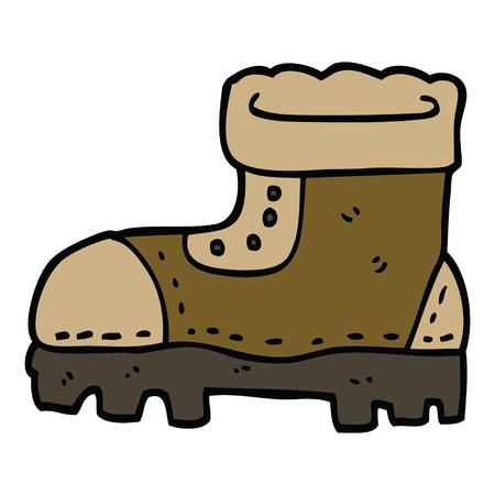 cartoon doodle work boot