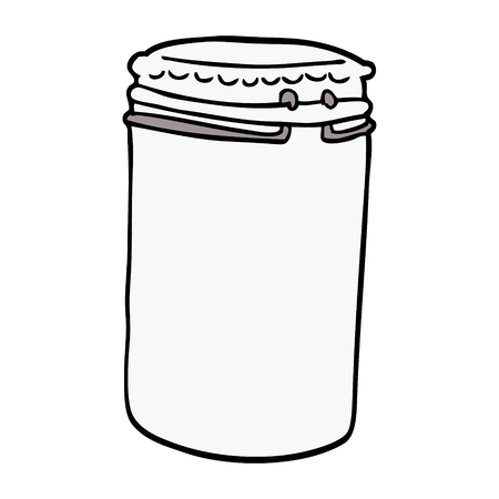 cartoon doodle storage jar