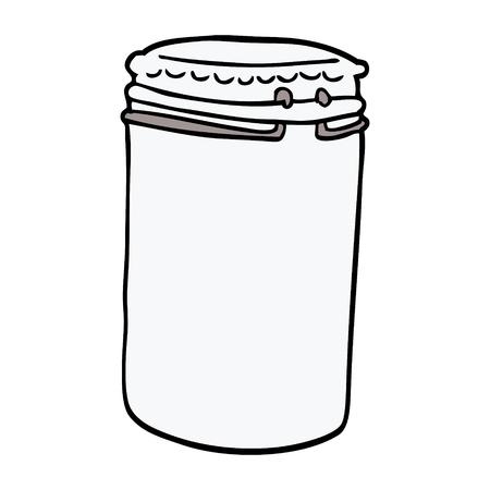 cartoon doodle storage jar Reklamní fotografie - 110563222