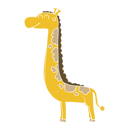 flat color style cartoon giraffe Foto de archivo - 110563278