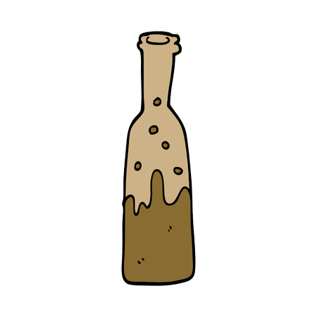 cartoon doodle bottle of pop 向量圖像