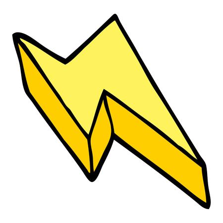 cartoon doodle decorative lightning bolt Ilustração