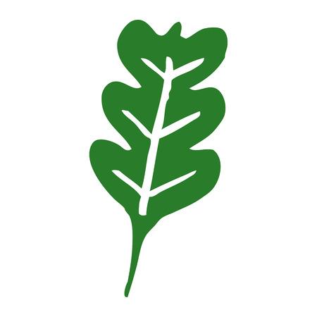cartoon doodle oak leaf