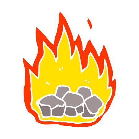 cartoon doodle burning coals Illusztráció