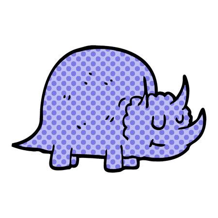 cartoon doodle prehistoric dinosaur  イラスト・ベクター素材