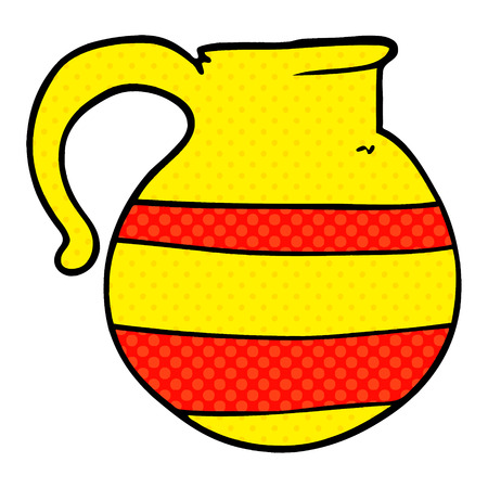 cruche rayée doodle dessin animé Vecteurs