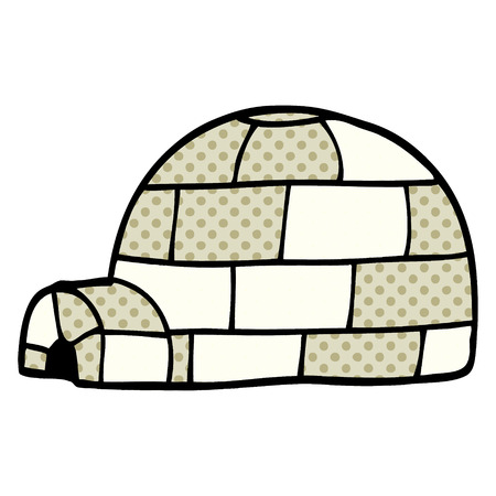 cartoon doodle igloo