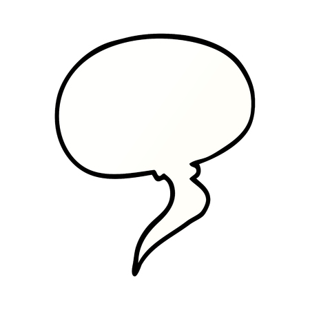 cartoon doodle speech bubble Illustration