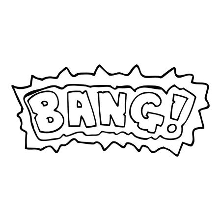 line drawing cartoon word bang