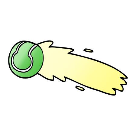cartoon doodle flying tennis ball