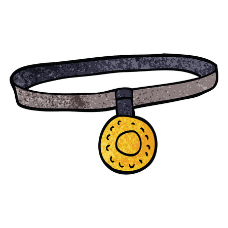 cartoon doodle dog collar 向量圖像