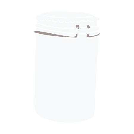cartoon doodle storage jar
