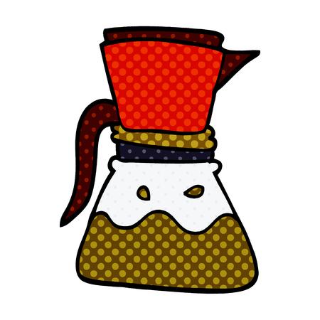 cartoon doodle filter coffee Ilustrace