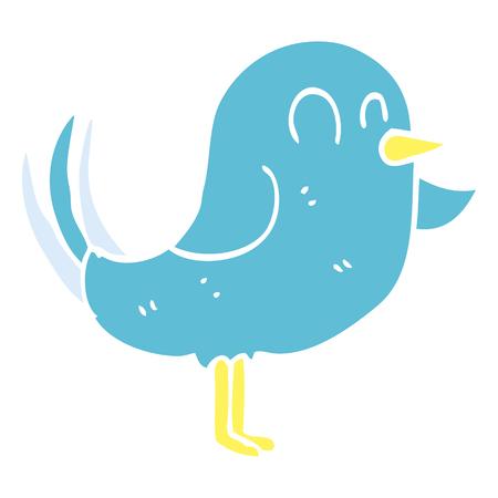 cartoon doodle bird pointing Foto de archivo - 110616591