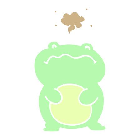 cartoon doodle frog  イラスト・ベクター素材