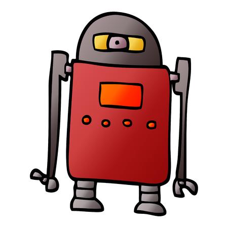 cartoon doodle robot