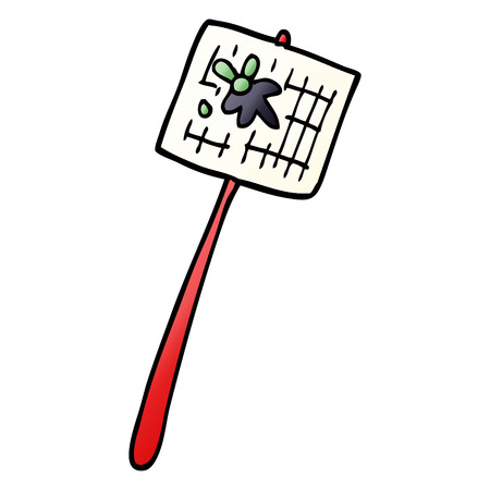 cartoon doodle fly swatted