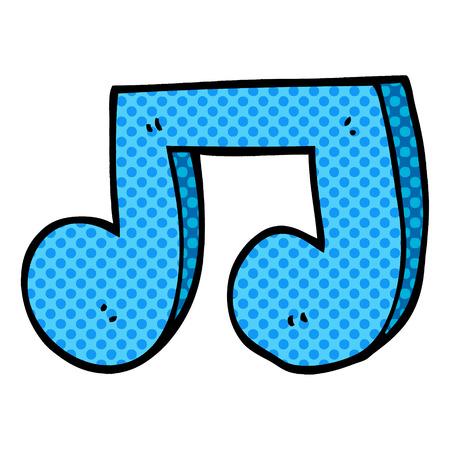 cartoon doodle musical notes