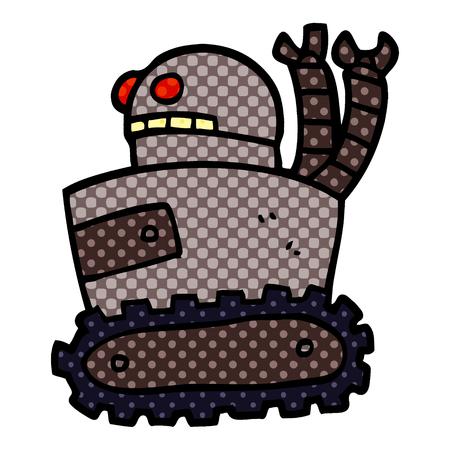 cartoon doodle robot 版權商用圖片 - 110712184