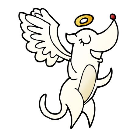 cartoon doodle angel dog Ilustração