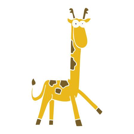 cartoon doodle funny giraffe Foto de archivo - 110712191