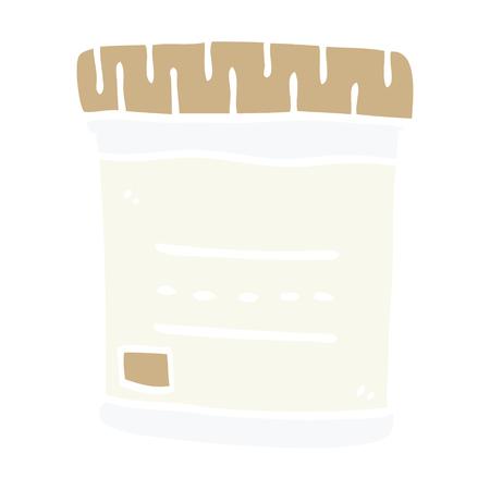 cartoon doodle medical sample jar