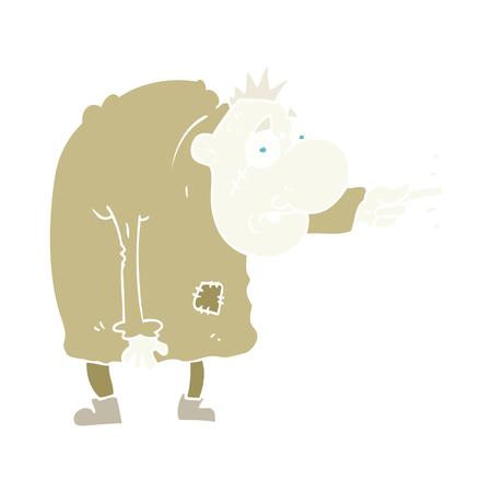 flat color illustration of igor Ilustrace