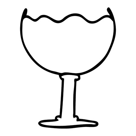 line drawing cartoon glass of drink