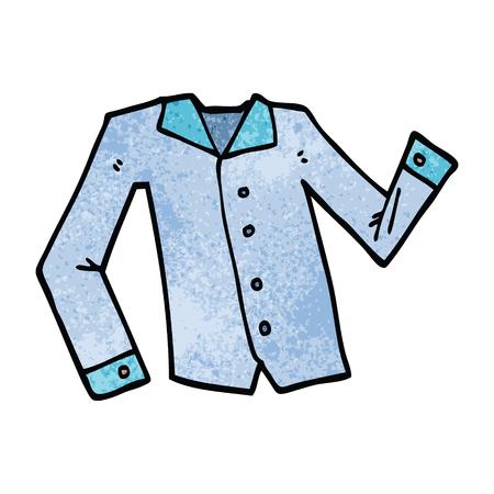 cartoon doodle work shirt Ilustrace