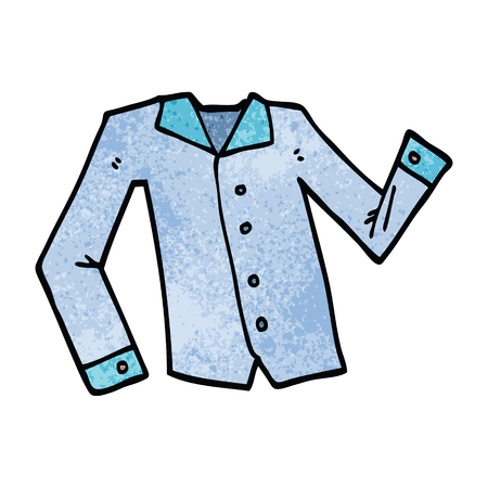 cartoon doodle work shirt Illustration