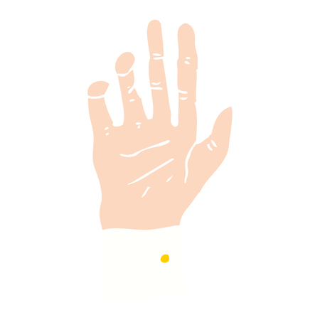flat color illustration of hand reaching