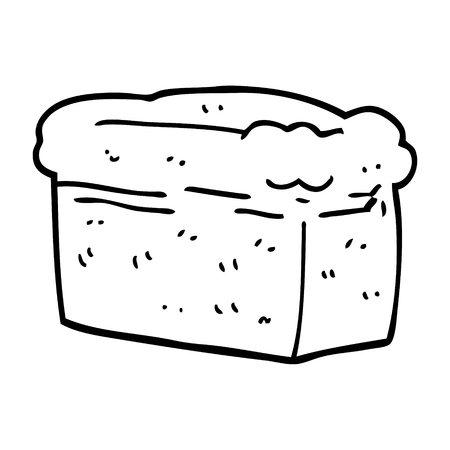 line drawing cartoon loaf of bread