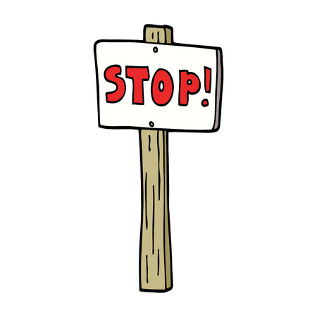 cartoon doodle traffic signs