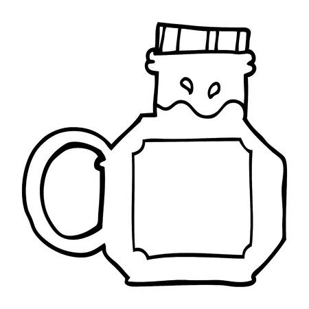 line drawing cartoon honey