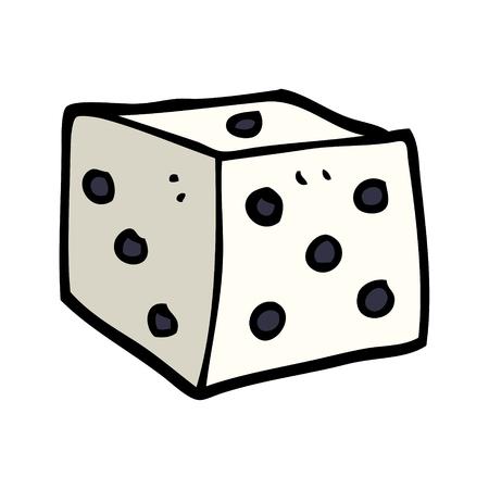 cartoon doodle classic dice Illustration