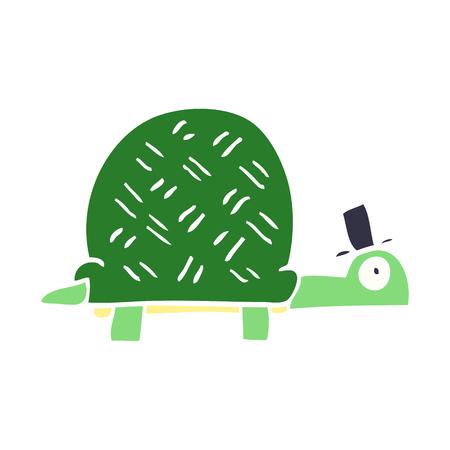 cartoon doodle funny tortoise Standard-Bild - 110713170