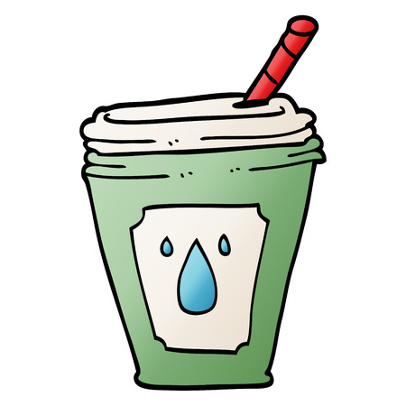 cartoon doodle juice bar drink