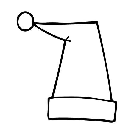 line drawing cartoon elf hat Illustration