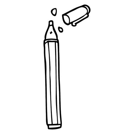 line drawing cartoon office pen