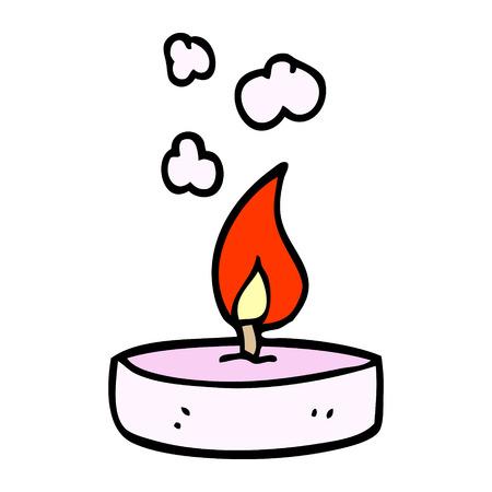 cartoon doodle scented candle Vektorové ilustrace