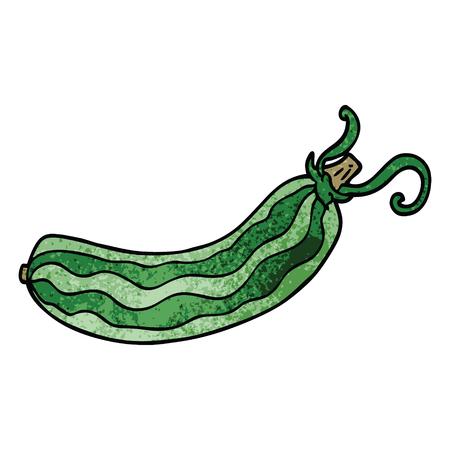 concombre de dessin animé